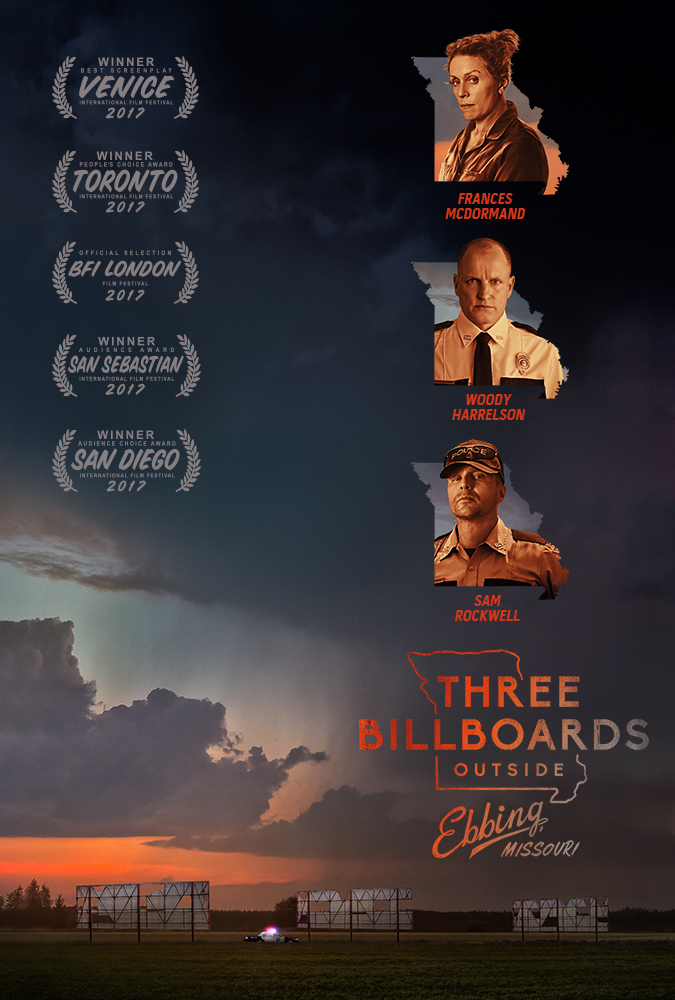 Woody Harrelson, Frances McDormand, and Sam Rockwell in Three Billboards Outside Ebbing, Missouri (2017)