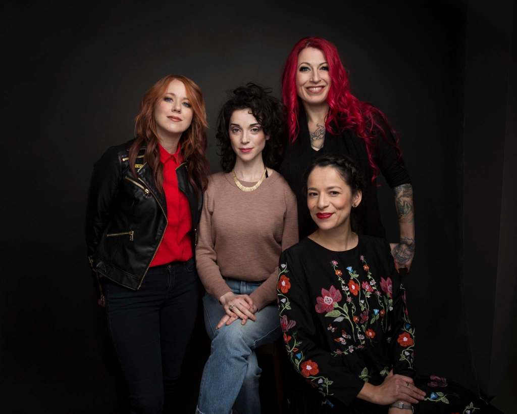 XX directors Roxanne Benjamin, Annie Clarke, Jovanka Vuckovic and Sofia Carrillo at The Sundance Film Festival, 2017.