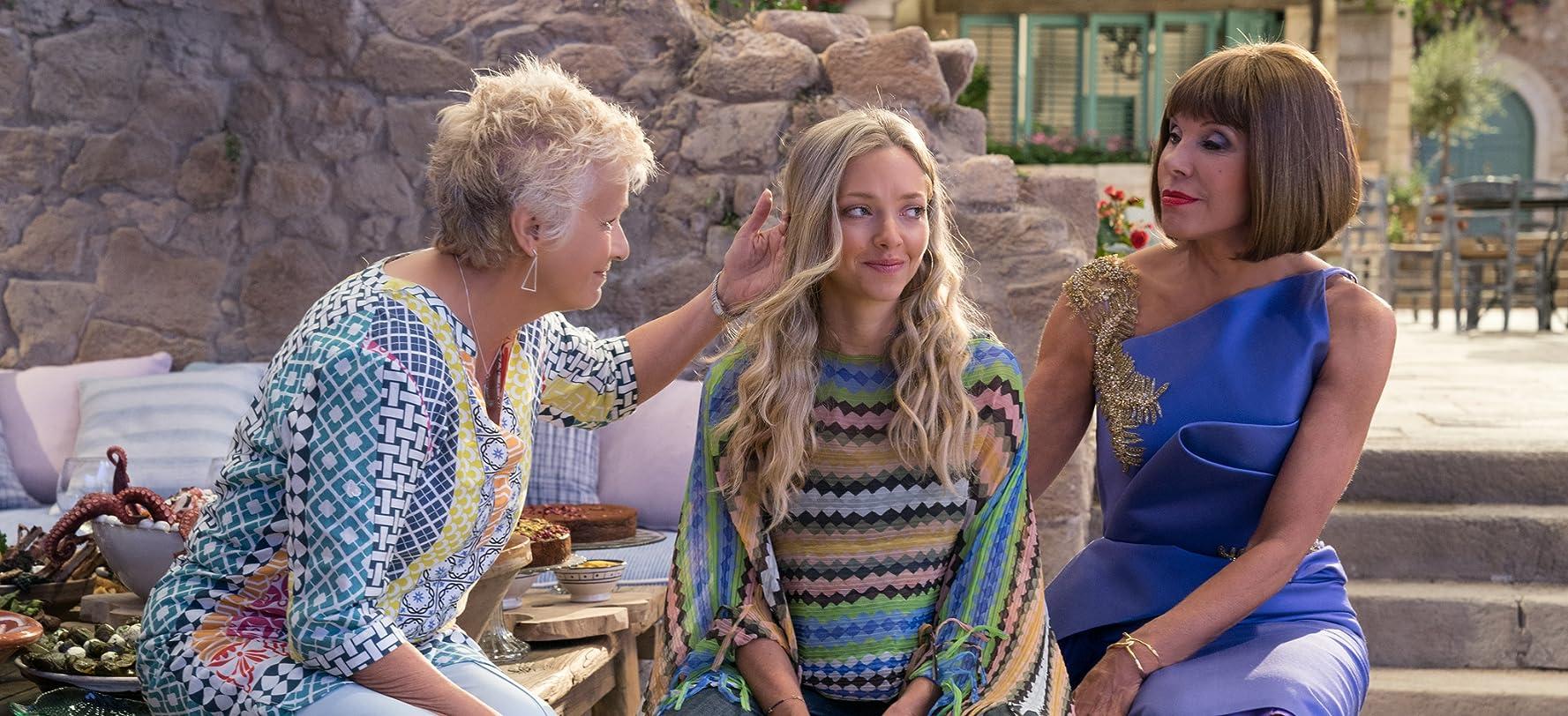 Christine Baranski, Julie Walters, and Amanda Seyfried in Mamma Mia! Here We Go Again (2018)