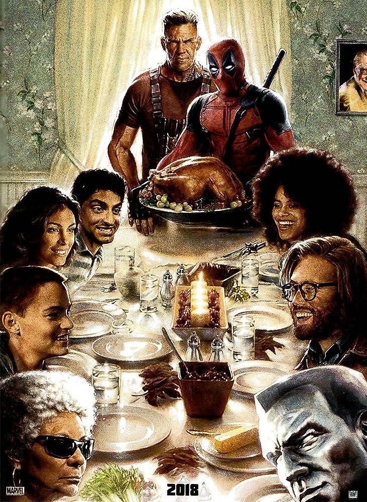 Josh Brolin, Ryan Reynolds, Stan Lee, Leslie Uggams, Morena Baccarin, Stefan Kapicic, T.J. Miller, Karan Soni, Zazie Beetz, and Brianna Hildebrand in Deadpool 2 (2018)