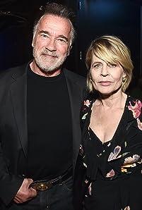 Linda Hamilton and Arnold Schwarzenegger