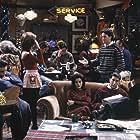 Jennifer Aniston, Hank Azaria, Courteney Cox, Lisa Kudrow, Matt LeBlanc, Matthew Perry, David Schwimmer, and Wayne Pére in Friends (1994)
