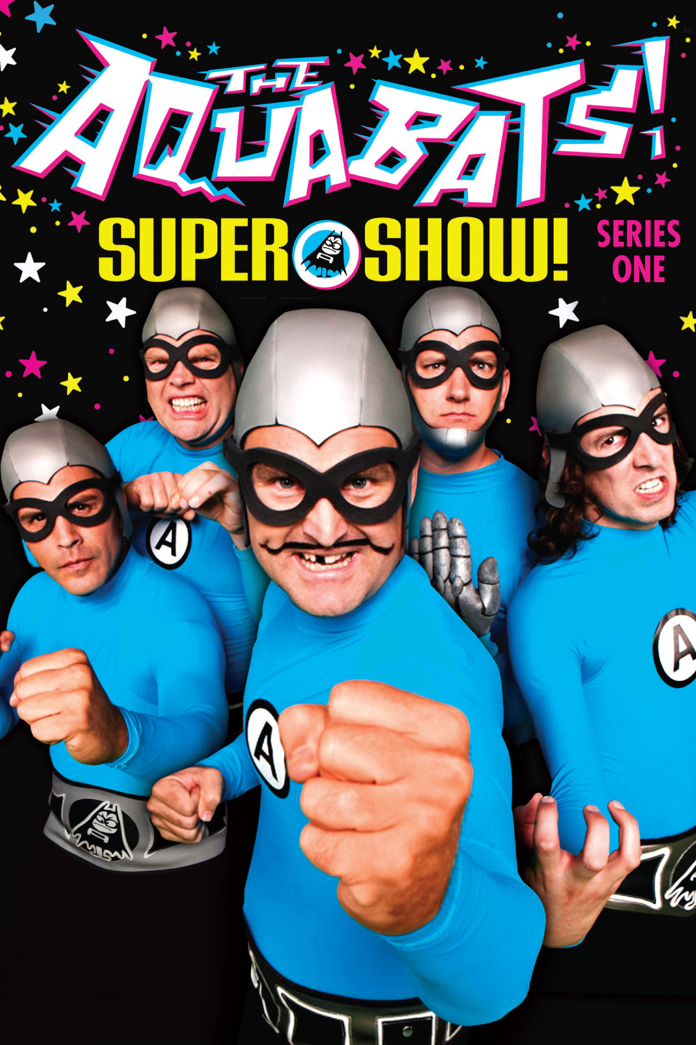 Christian Jacobs, Richard Falomir, Chad Larson, James Briggs, and Ian Fowles in The Aquabats! Super Show! (2012)