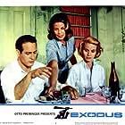 Paul Newman, Eva Marie Saint, and Alexandra Stewart in Exodus (1960)