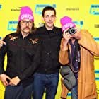 Michael St. Michaels, Jim Hosking, and Sky Elobar at an event for The Greasy Strangler (2016)