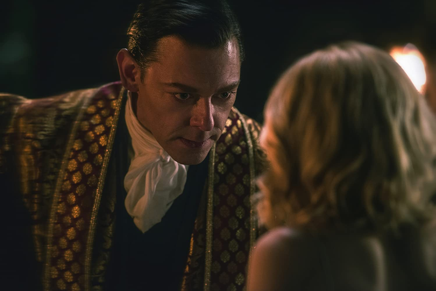 Richard Coyle and Kiernan Shipka in Chilling Adventures of Sabrina (2018)