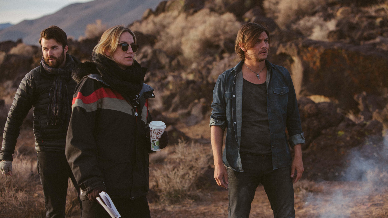 Director Ashley Avis on the set of Deserted