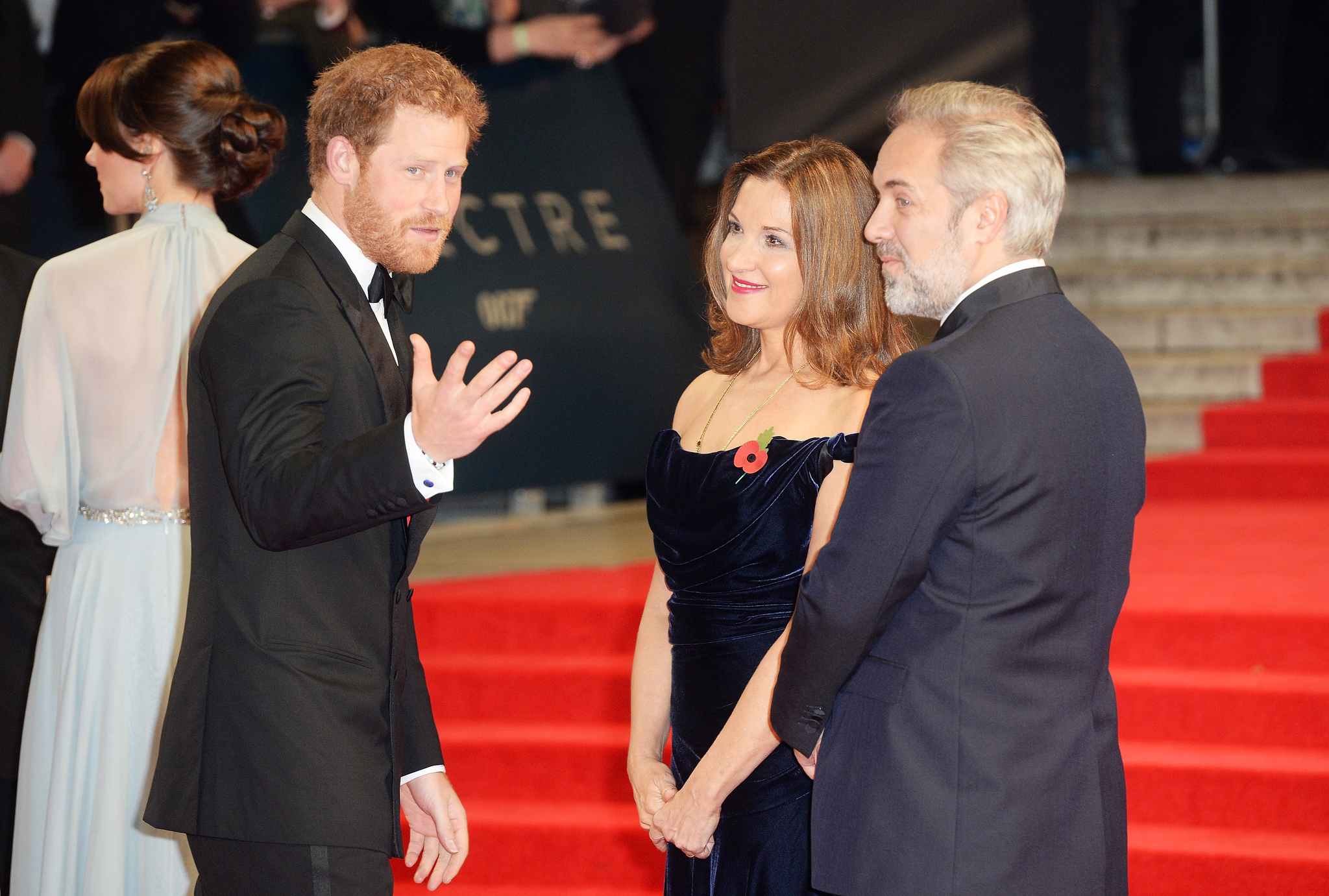 Sam Mendes, Barbara Broccoli, Prince Harry, and Prince Harry at an event for Spectre (2015)
