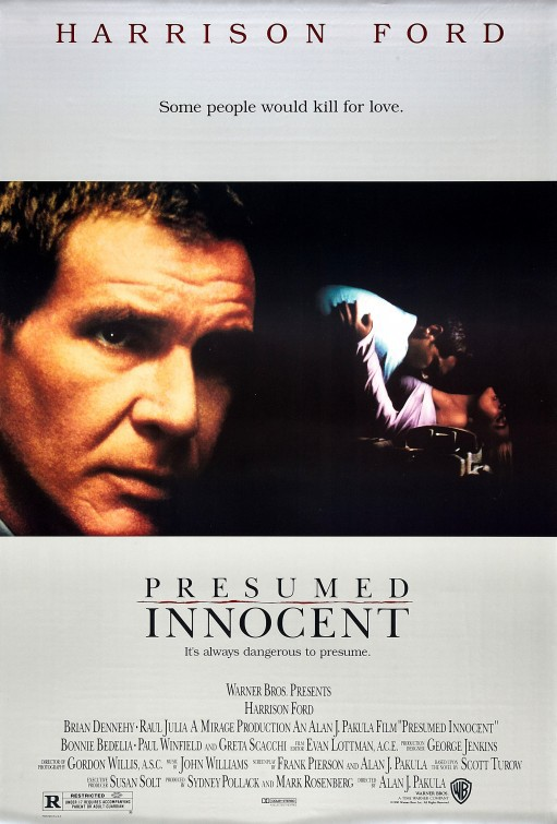 Harrison Ford and Greta Scacchi in Presumed Innocent (1990)
