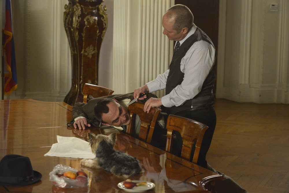 James Spader and Misha Kuznetsov in The Blacklist (2013)
