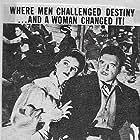 Max Baer, Albert Dekker, Richard Dix, and Jane Wyatt in Buckskin Frontier (1943)