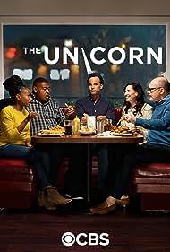 Walton Goggins, Omar Benson Miller, Rob Corddry, Michaela Watkins, and Maya Lynne Robinson in The Unicorn (2019)