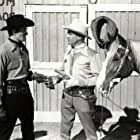 Gene Autry, Hugh O'Brian, and Champion in Beyond the Purple Hills (1950)