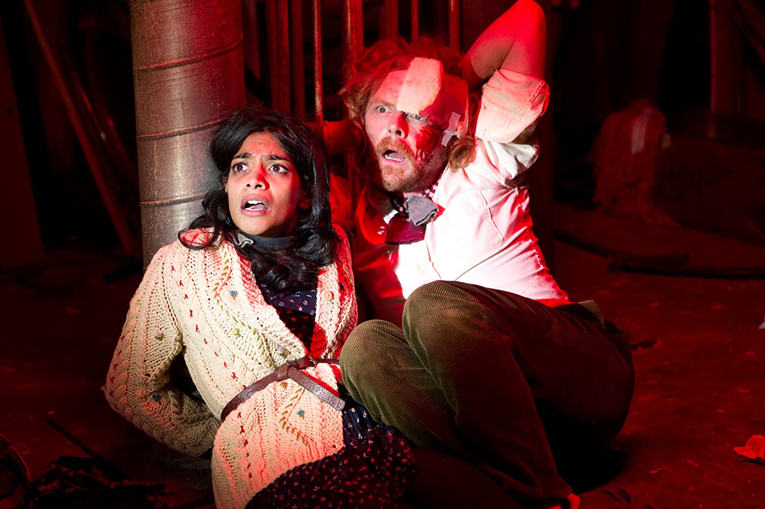 Simon Pegg and Amara Karan in A Fantastic Fear of Everything (2012)