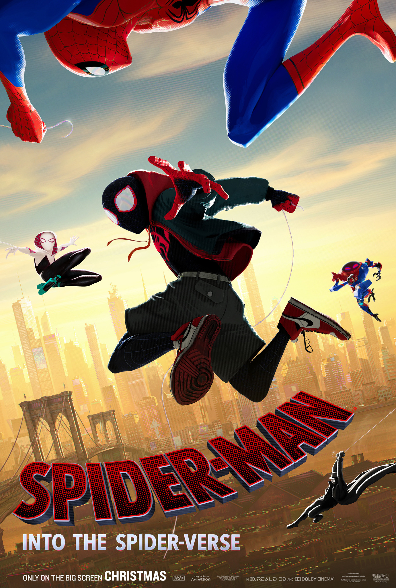 Image result for into the spider verse movie poster]