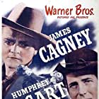 Humphrey Bogart and James Cagney in The Oklahoma Kid (1939)