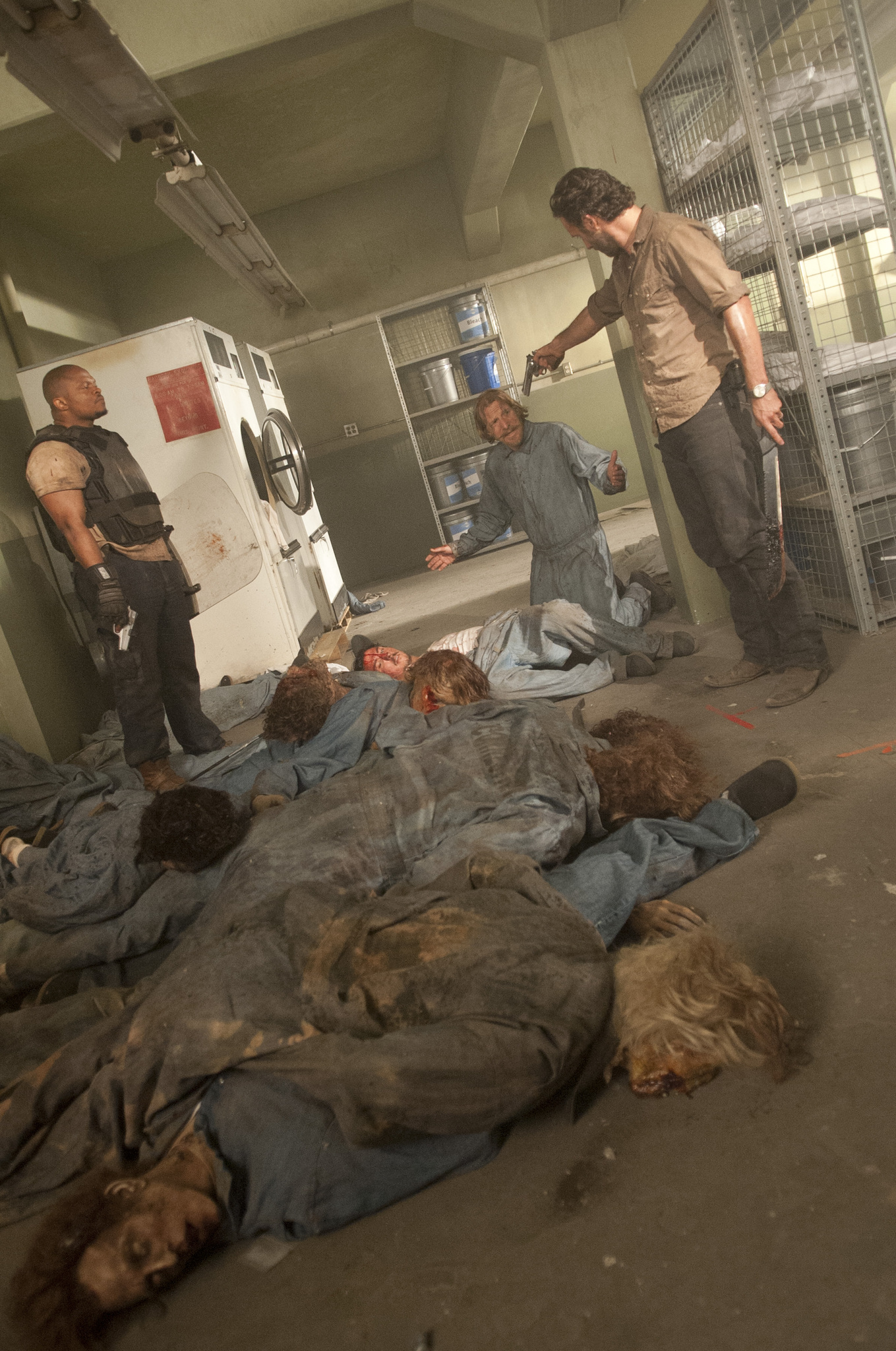 Andrew Lincoln, Lew Temple, and Irone Singleton in The Walking Dead (2010)