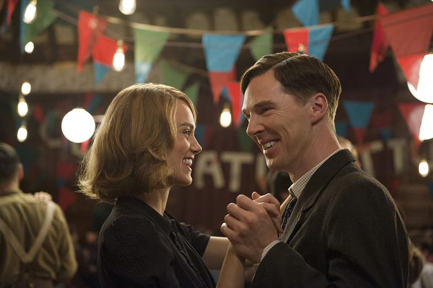 Keira Knightley and Benedict Cumberbatch in The Imitation Game (2014)