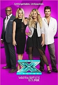 Britney Spears, Simon Cowell, L.A. Reid, and Demi Lovato in The X Factor (2011)