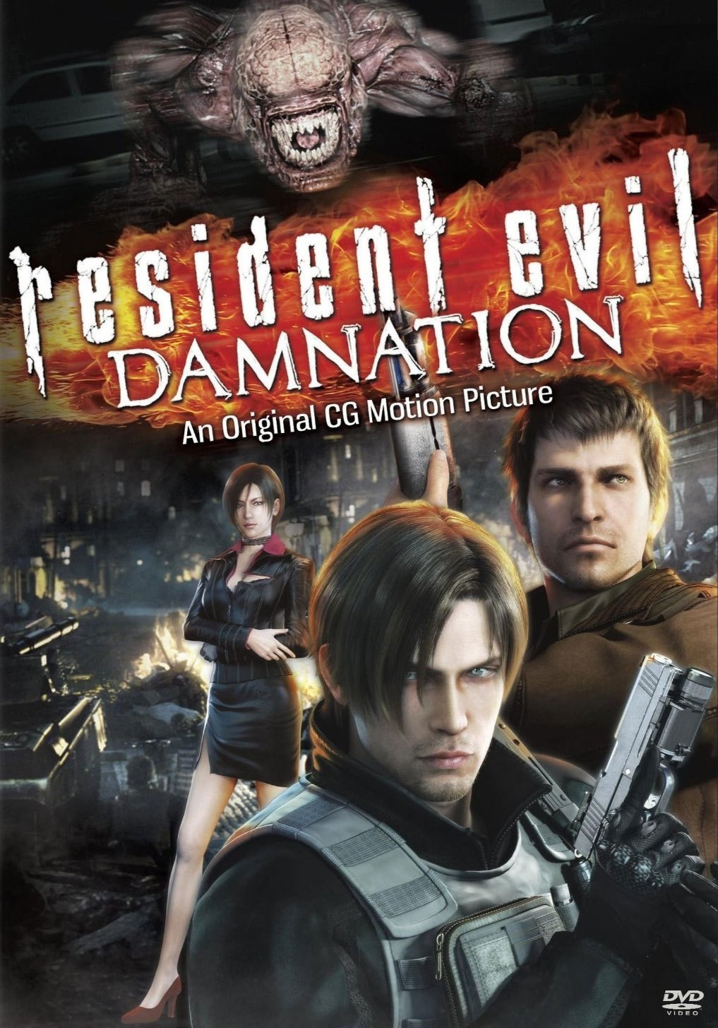 Resident Evil Damnation 2012 3D Hindi Dual Audio 720p BluRay ESubs 700MB Download