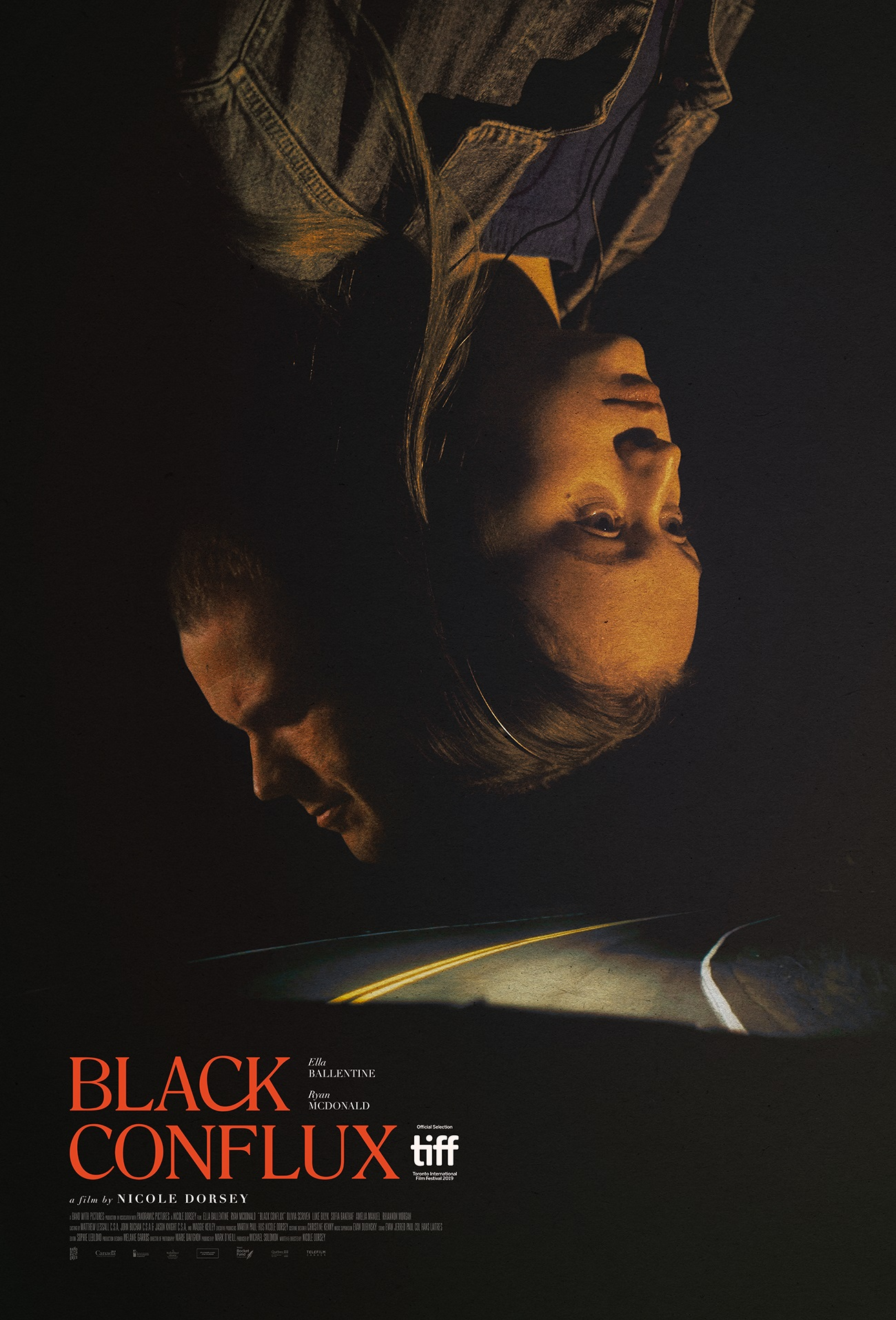 Ryan McDonald and Ella Ballentine in Black Conflux (2019)