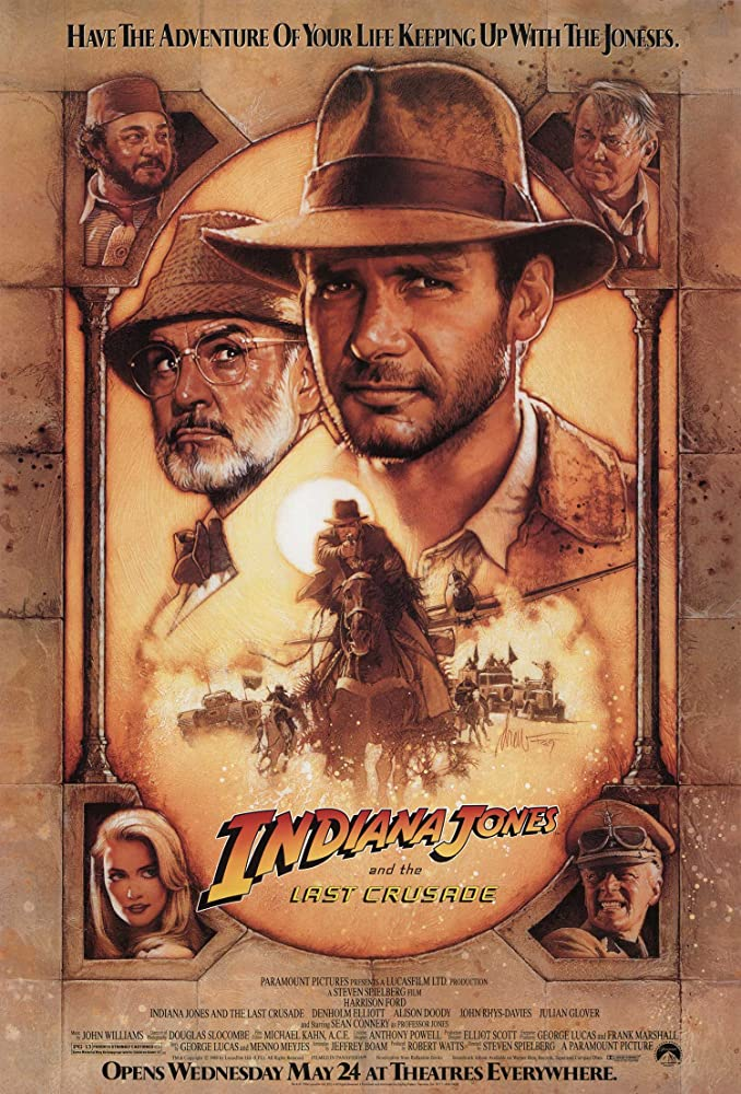 Poster film Indiana Jones and the Last Crusade (1989)