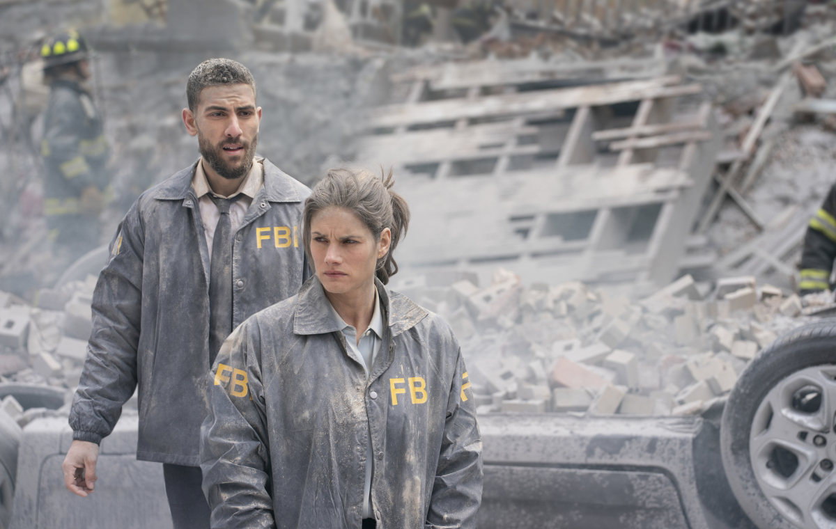 Missy Peregrym and Zeeko Zaki in FBI (2018)