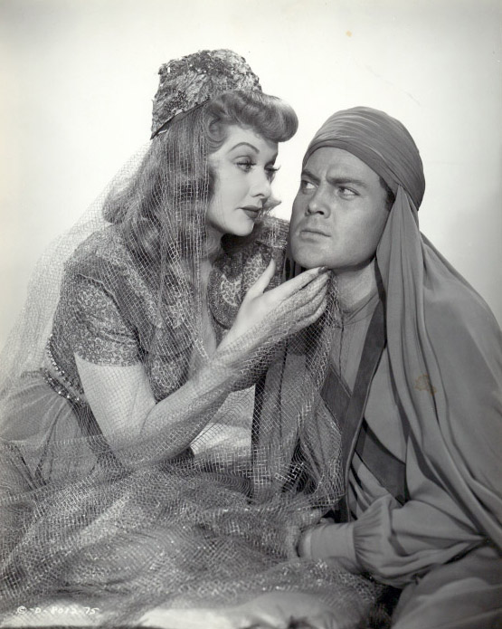 John Agar and Lucille Ball in The Magic Carpet (1951)