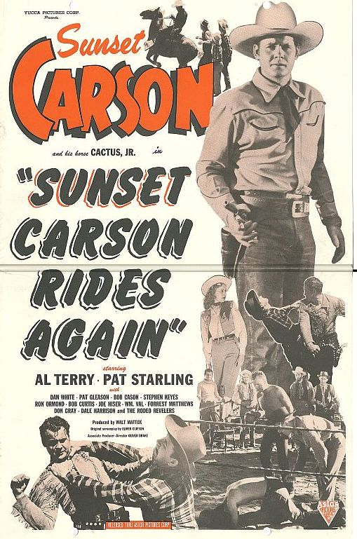Sunset Carson, John Cason, Stephen Keyes, and Pat Starling in Sunset Carson Rides Again (1948)