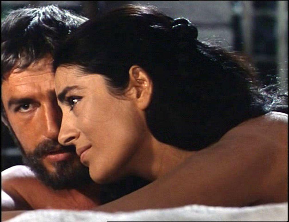 Bekim Fehmiu and Irene Papas in Odissea (1968)