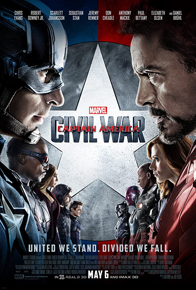 Captain America 3: Civil War 2016 Movie BluRay Dual Audio Hindi Eng 400mb 480p 1.5GB 720p 5GB 12GB 1080p