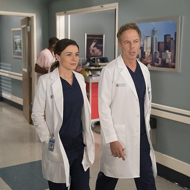 Greg Germann and Caterina Scorsone in Grey's Anatomy (2005)