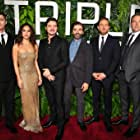 Ben Affleck, Pedro Pascal, Charlie Hunnam, Oscar Isaac, Garrett Hedlund, and Adria Arjona at an event for Triple Frontier (2019)