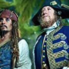 Johnny Depp and Geoffrey Rush in Pirates of the Caribbean: On Stranger Tides (2011)