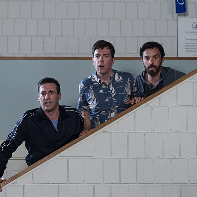 Jon Hamm, Ed Helms, and Jake Johnson in Tag (2018)