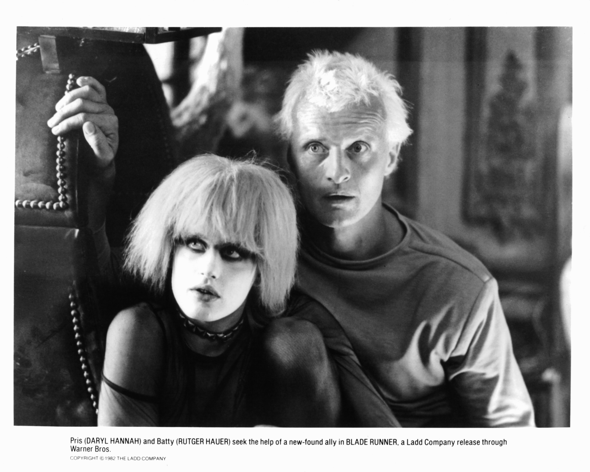 Daryl Hannah and Rutger Hauer in Blade Runner (1982)