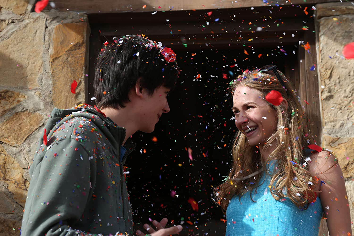 Britt Robertson and Asa Butterfield in The Space Between Us (2017)