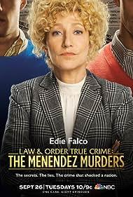 Edie Falco, Miles Gaston Villanueva, and Gus Halper in Law & Order True Crime (2017)