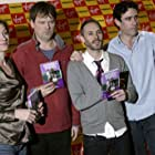 Pippa Haywood, Mark Heap, Stephen Mangan, and Karl Theobald at an event for Green Wing (2004)