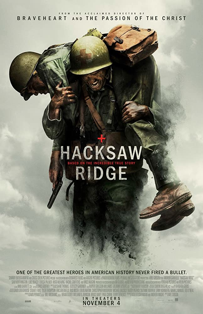 Poster film Hacksaw Ridge.