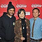 Pei-Pei Cheng, Hong Khaou, and Dominic Buchanan at an event for Lilting (2014)