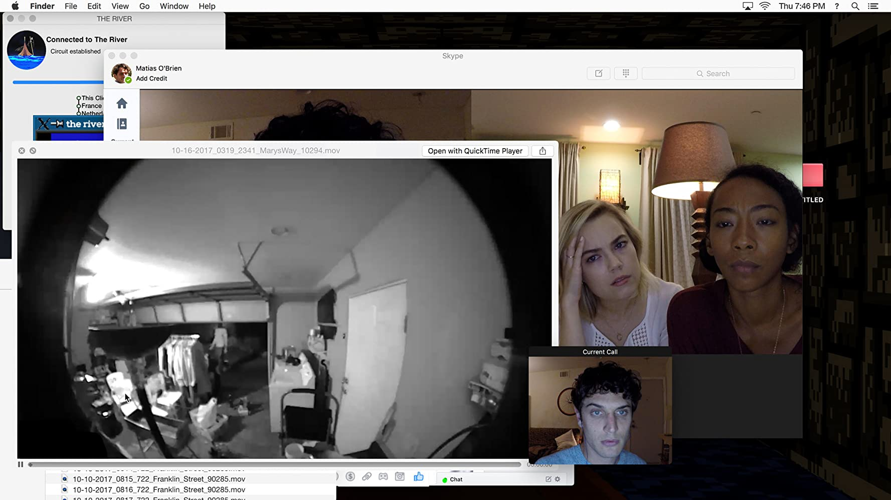Betty Gabriel, Rebecca Rittenhouse, and Colin Woodell in Unfriended: Dark Web (2018)