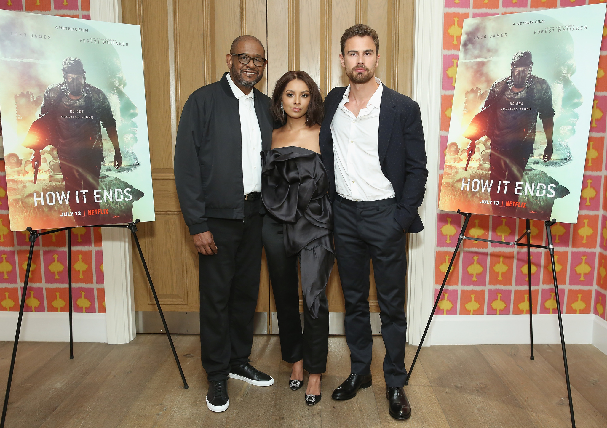 Forest Whitaker, Kat Graham, and Theo James at an event for How It Ends (2018)