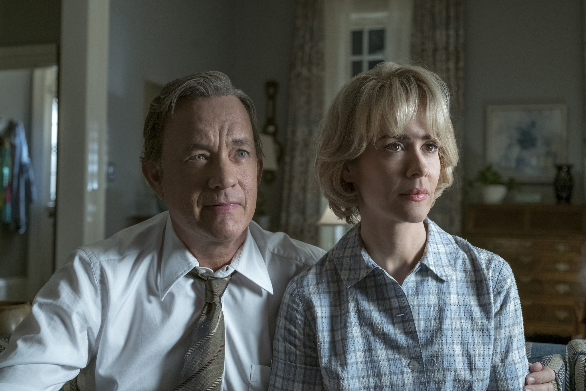 Tom Hanks and Sarah Paulson in The Post (2017)