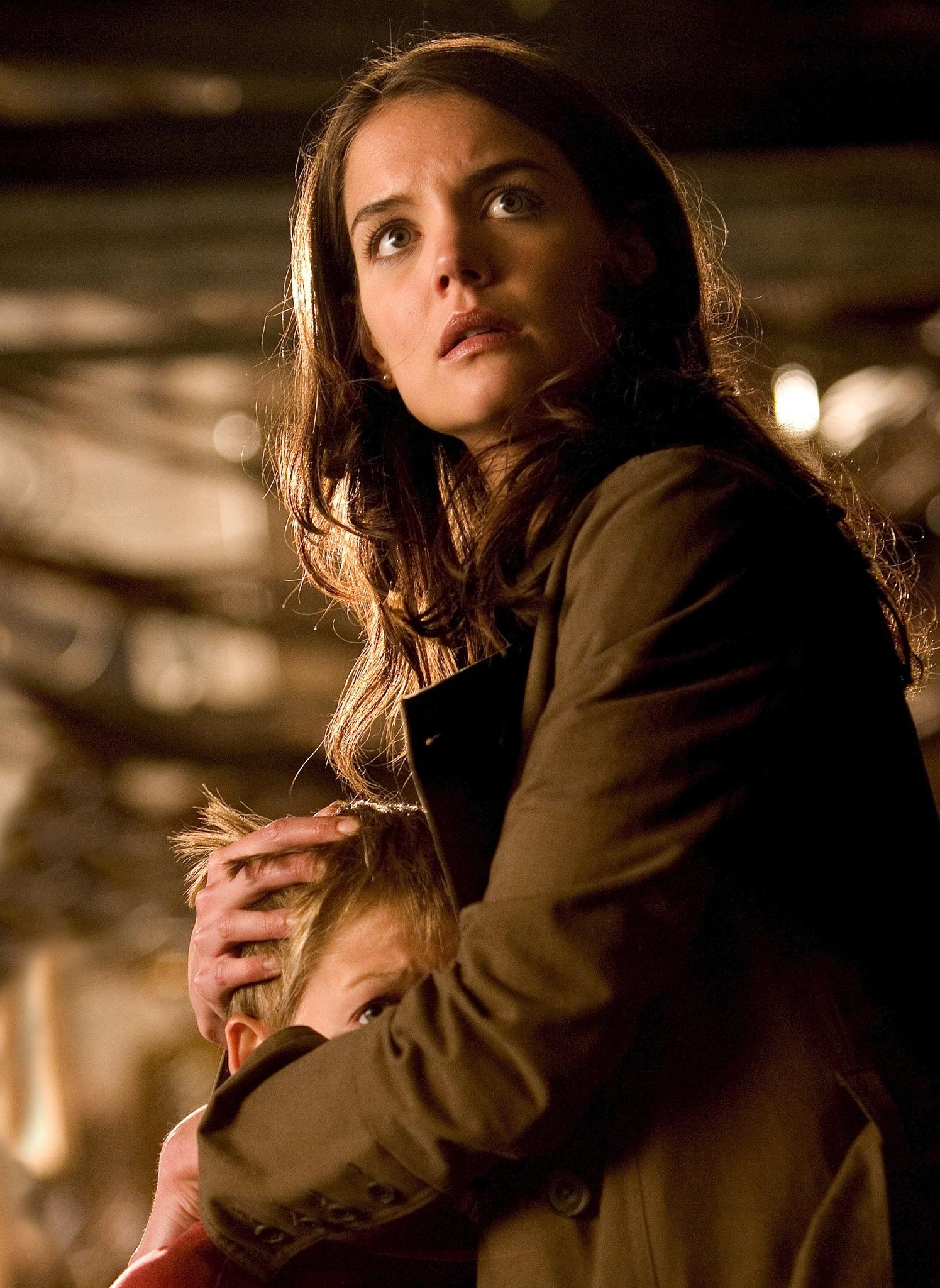 Katie Holmes and Jack Gleeson in Batman Begins (2005)