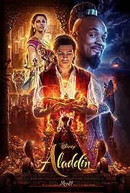 Will Smith, Alan Tudyk, Navid Negahban, Numan Acar, Marwan Kenzari, Naomi Scott, Mena Massoud, Adam Alzoubi, and Nathaniel Ellul in Aladdin (2019)