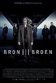 Nicolas Bro, Sofia Helin, Maria Kulle, Thure Lindhardt, Reuben Sallmander, and Sonja Richter in Bron/Broen (2011)