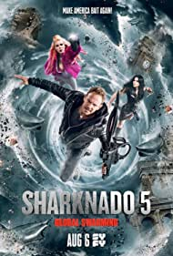 Tara Reid, Ian Ziering, and Cassandra Scerbo in Sharknado 5: Global Swarming (2017)
