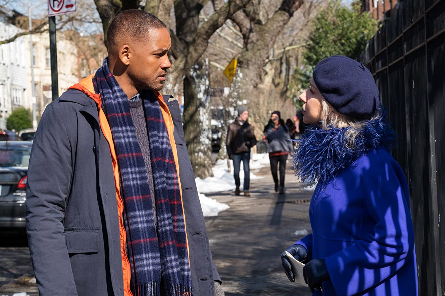 Will Smith and Helen Mirren in Collateral Beauty (2016)
