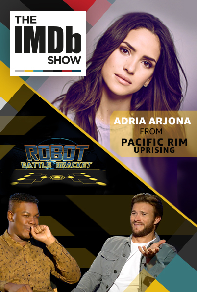 Scott Eastwood, John Boyega, and Adria Arjona in The IMDb Show (2017)